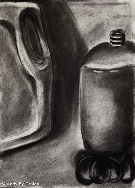 Drawing Connections, Still life Charcoal Drawing
