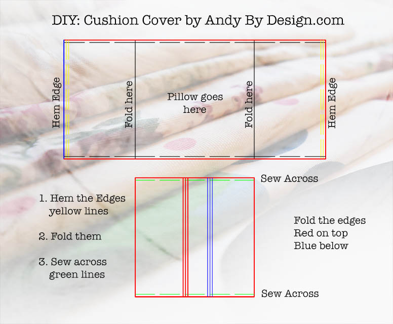 cushion cover instructions